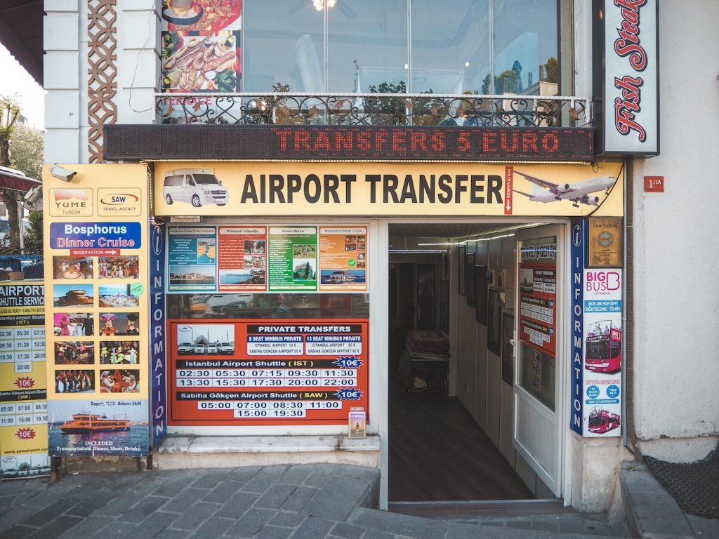 Traslado al aeropuerto de Estambul