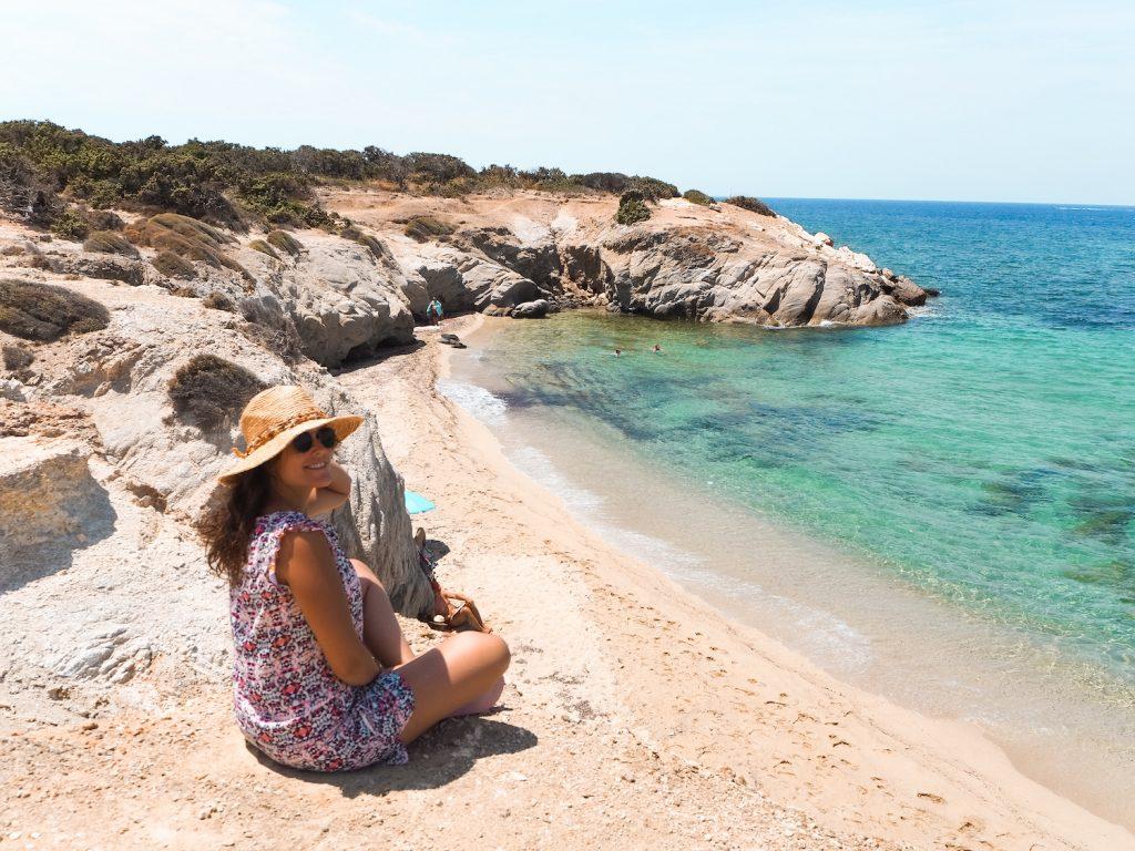 Alojarse en la playa de Naxos