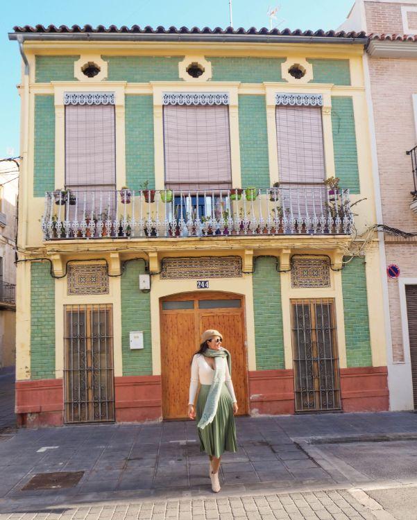 Barrio el Cabañal en Valencia