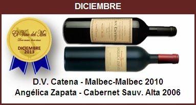 Diciembre - D.V. Catena - Malbec-Malbec 2010,Angélica Zapata - Cabernet Sauvignon Alta 2006