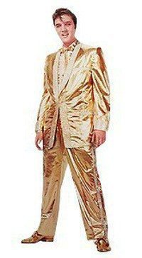Golden Caricatures Volume 5: photo of Elvis in gold lame suit 1957.
