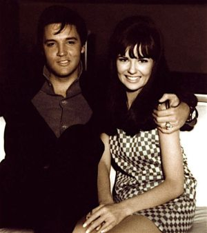 Final Four: photo of Elvis and Shelly Fabares relaxing on the set of CLAMBAKE (1967).