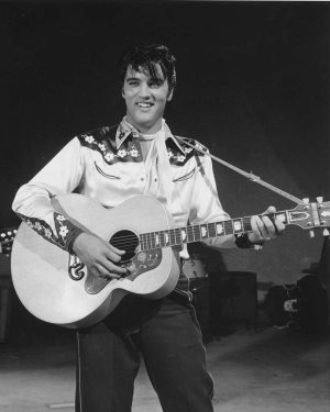 Fifty Generations Of Elvis Fans: photo of Elvis from LOVING YOU movie in 1957.