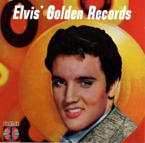 Electronically Reprocessed Stereo: front cover for original fake stereo CD reissue of ELVIS' GOLDEN RECORDS.