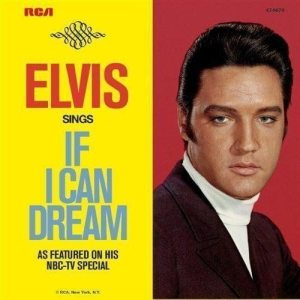 Pseudo-Pyschedelic Elvis: American picture sleeve for IF I CAN DREAM single.