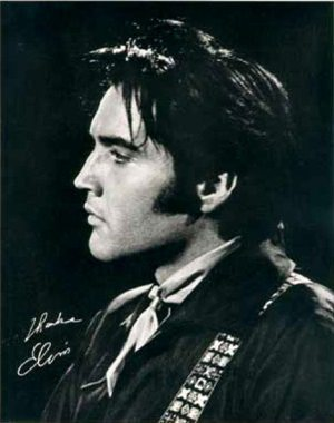 Another Mess Of Blues: photo of Elvis making the NBC-TV Special in early June 1968.