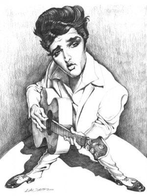 Golden Caricatures Volume 2: caricature of Elvis by Dan S.