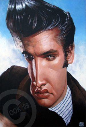 Golden Caricatures Volume 3: caricature of Elvis by Russ Cook.