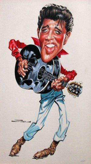 Golden Caricatures Volume 1: caricature of Elvis by Bruce Stark.