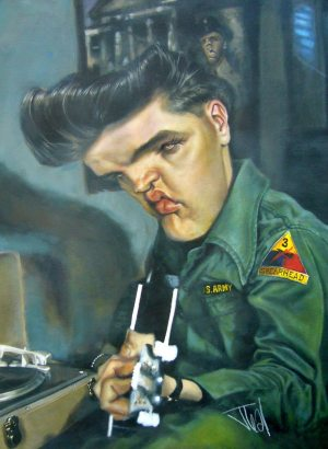 Golden Caricatures Volume 4: caricature of Elvis by Jota Leal.