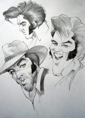 Golden Caricatures Volume 5: caricature of Elvis by Gabriel Balazs.