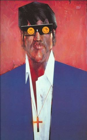 Golden Caricatures Volume 6: Elvis in 1967 by Sebastian Kruger.