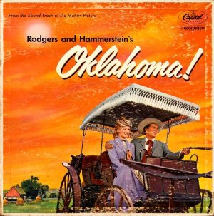 Original RIAA: front cover of Capitol SAO-595, the soundtrack album OKLAHOMA!