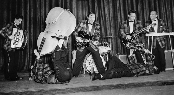 Quora Question: photo of Bill Haley and His Comets in London in 1957.