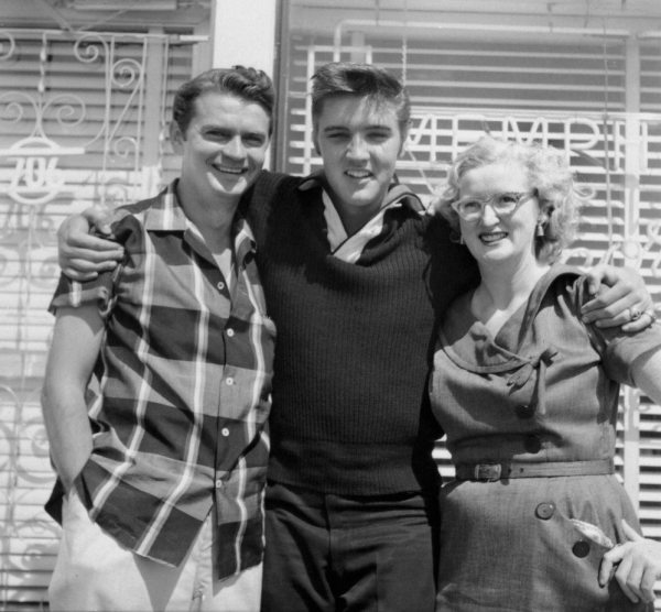 Quora Question: photo of Sam Phillips and Marion Keisker with Elvis, probably in 1955.