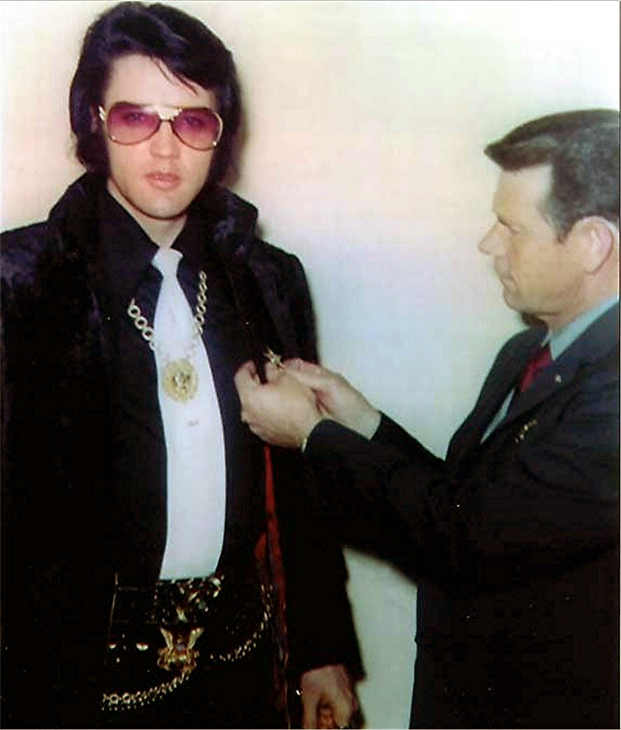 Image result for elvis and sheriff Bill Mitchell,