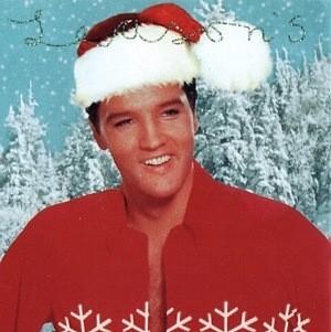 Elvis Wearing Santa Hat ElvisBlog