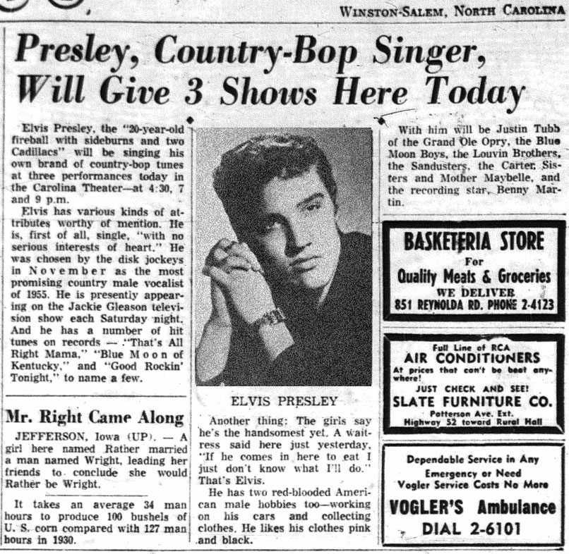 Image result for Elvis Presley february 15, 1955