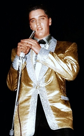 Image result for liberace in gold lame suit