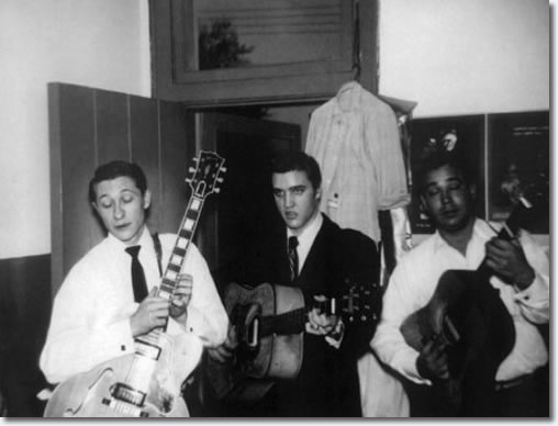 Elvis Presley, Scotty Moore and Bill Black : February 9, 1956