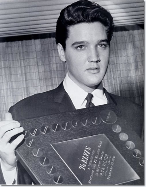 RCA presented Elvis with a diamond watch, and a plaque, marking his achievement of selling over 75 million records.
