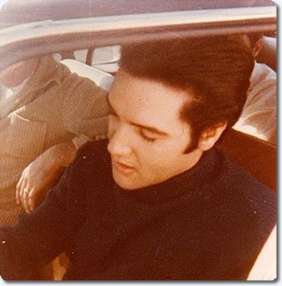 Elvis Presley : Leaving Graceland : February 6, 1968. Photo by Judy Palmer.