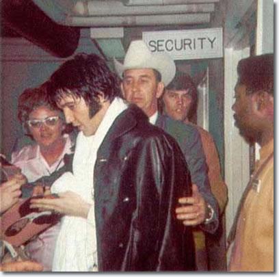 Elvis Presley Backstage Houston Astrodome February 1970