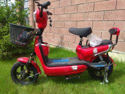 Купить электромопед красного цвета, електромопед Elwinn EM-2360.