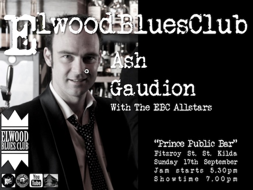 Ash Gaudion at the Elwood Blues Club 17th September 2017