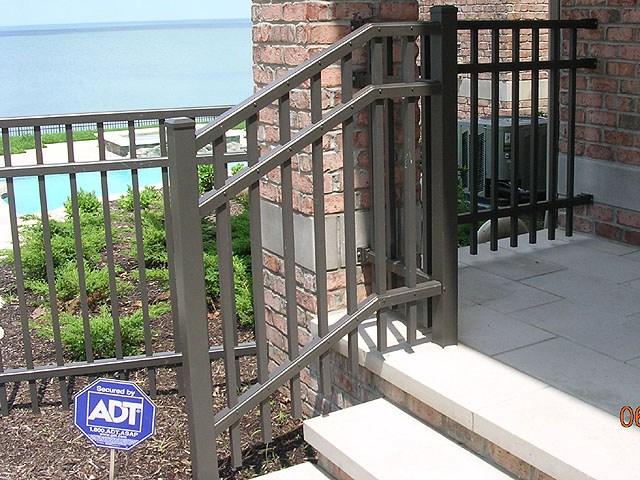 Ornamental Aluminum Iron Railing By Elyria Fence | Aluminum Railings For Front Steps | Budget Porch | Concrete | Construction | Wood | Modern