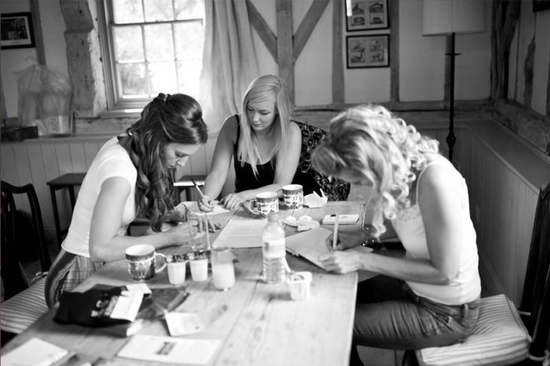 english countryside barn wedding bridesmaids write speeches