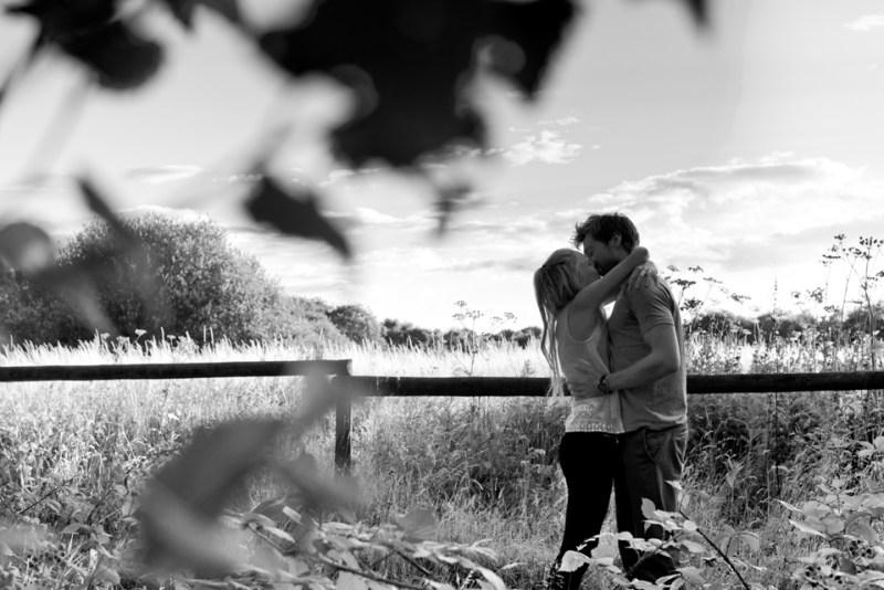 engagement shoot london natural light forest walk