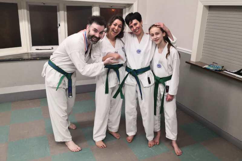 elyse and her taekwondo family