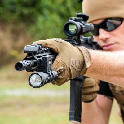 Elzetta ZRX Flashlight Mount on AR15 rifle