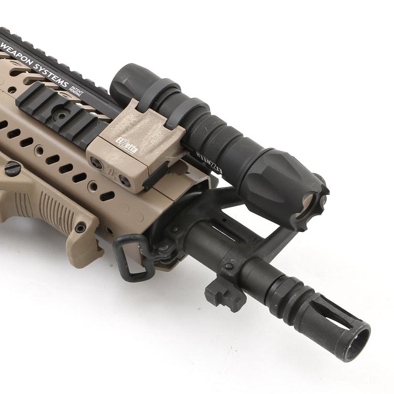Elzetta ZRX Flashlight Mount installed on carbine
