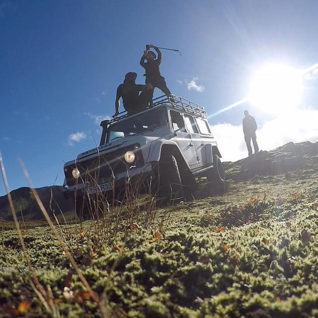 في الطريق إلى وادي Landmannalaugar