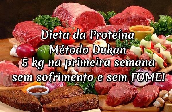 Dieta Dukan e da proteina