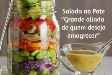 Salada no pote para emagrecer