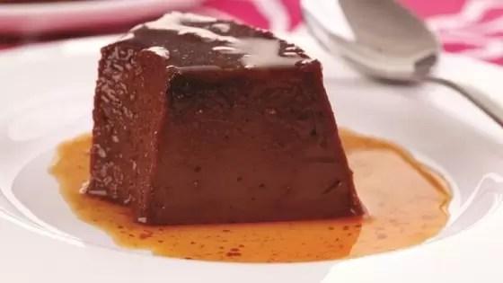 Receitas de Sobremesas para Diabéticos - PUDIM DE CHOCOLATE