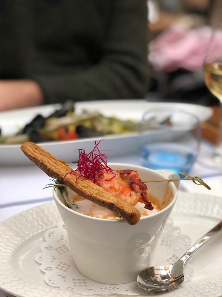 Capuccino de homard