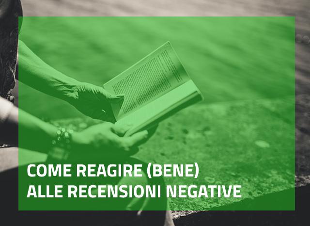 reagire recensioni negative