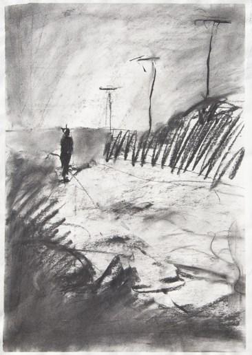 Emanuele Convento - Vir Solo, 2013 fusaggine su carta, cm 55 x 40