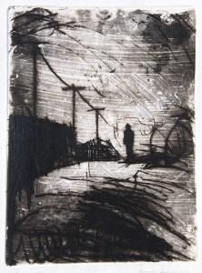 Emanuele Convento - Vir-Solo, 2015 maniera pittorica e puntasecca, mm 400 x 300