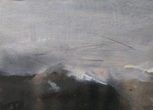 Emanuele Convento - Alta Valtellina, 2020, china e tempera su carta, cm 21 x 28