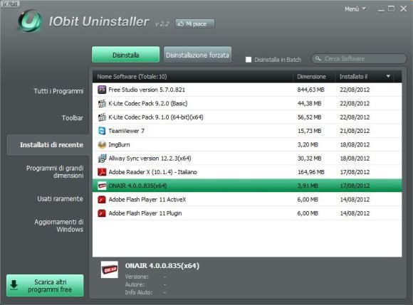 IObit Uninstaller v2.2