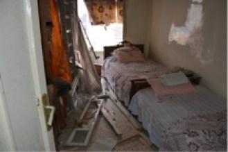 L'edificio bombardato a Jabrieh che ha provocato altri 5 martiri