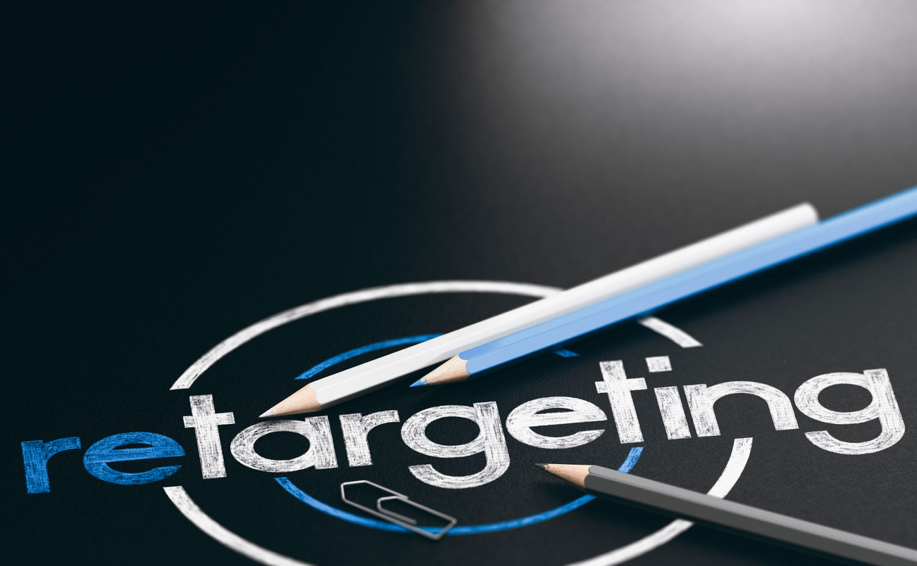 Graphic picturing the word retargeting