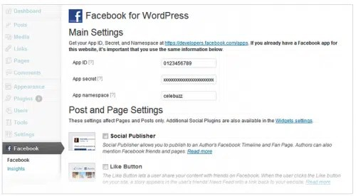 plugin-facebook-for-wordpress-installation