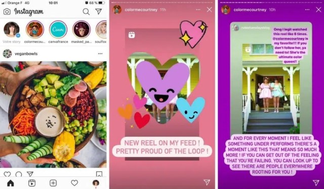 presentation of instagram stories