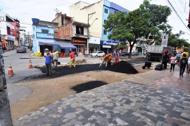 Manutenção de vias com operação tapa-buracos no São Caetano - Foto Wilson Oliveira 3